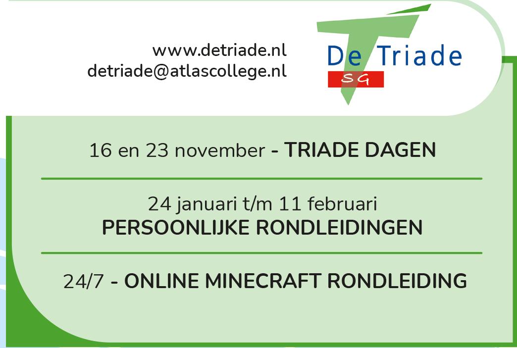 """Featured image for """"Zet in de agenda: kennismaken met De Triade"""""""